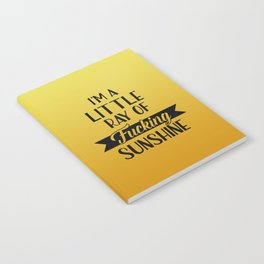 I'm A Little Ray Of Fucking Sunshine, Funny Quote Notebook
