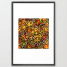 Abstract Circles Pattern 2 Framed Art Print