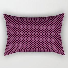 Festival Fuchsia and Black Polka Dots Rectangular Pillow