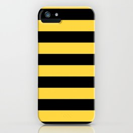 Even Horizontal Stripes, Yellow and Black, L iPhone Case