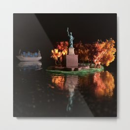 The Fawn & Liberty Island Metal Print