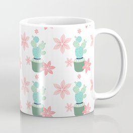 Cactus Potted plant Star flowers Coffee Mug