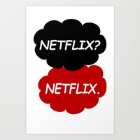 netflix Art Prints featuring Netflix Netflix by Goes4