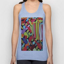 Stripes and Spots Unisex Tank Top
