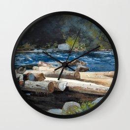 Winslow Homer - Hudson River, 1892 Wall Clock