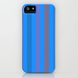 Line pattern 4 - Orange , blue , purple and brown iPhone Case