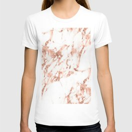 Rose Gold Marble - Perfect Pink Rose Gold Marble T-shirt