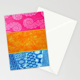 Pansexual Retro Flag Stationery Cards