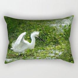 Fancy Dance Egret Rectangular Pillow