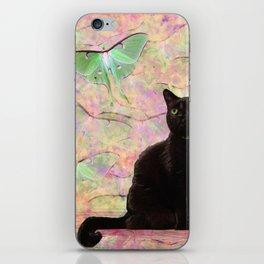 Luna Cat Pink & Green iPhone Skin