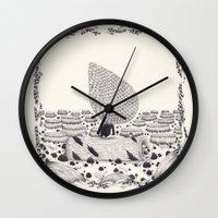 sad Wall Clocks featuring sad by yohan sacre