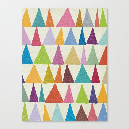 Analogous Shapes In Bloom. Canvas Print