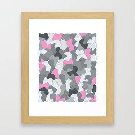 Stone Wall Drawing #2 Pink Framed Art Print