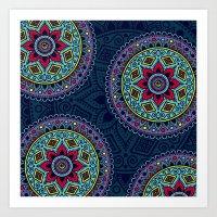 circles mandala #1 Art Print