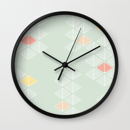 Japanese Pattern: Spring Wall Clock