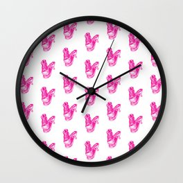 Battered Cons - Pink Wall Clock