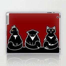 Three not so friendly kitties Laptop & iPad Skin