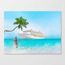 Christmas holidays on Caribbean cruise Canvas Print