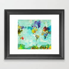 World Map - 8 Framed Art Print