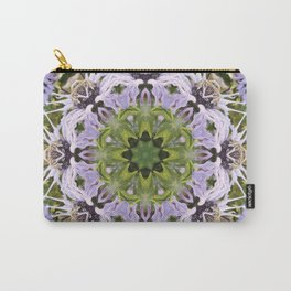 Lacy Lavender Wild Bergamot Kaleidoscope Carry-All Pouch