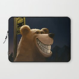 An early start, a travelling bear adventure Laptop Sleeve
