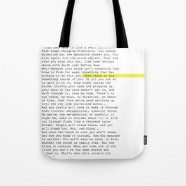 Murakami storm Tote Bag