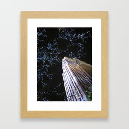 30 Rock at Night, NYC Framed Art Print