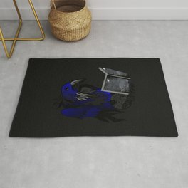 A Crow's Story Gothic Art Rug