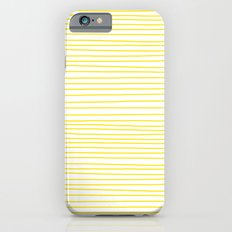 Yellow Lines dancing striped Slim Case iPhone 6s