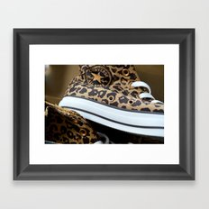 Converse leopard All Stars Framed Art Print