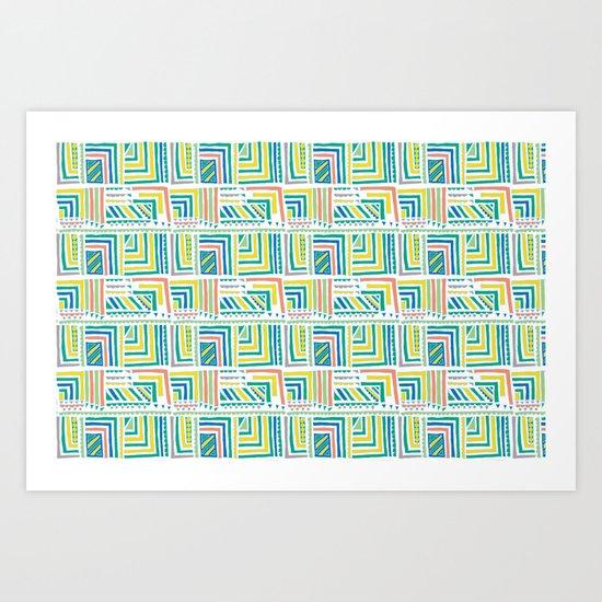 Geometric Color Art Print