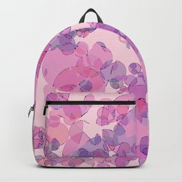 Boiling water in magenta: soft abstract digital art fashionable modern colors Backpack