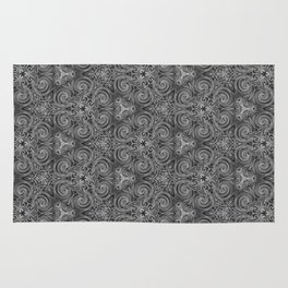 Gray Swirl Pattern Rug