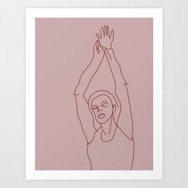 Woman Reaching Art Print