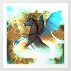 Dark unicorn  Art Print
