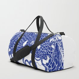 Blue Double Duffle Bag