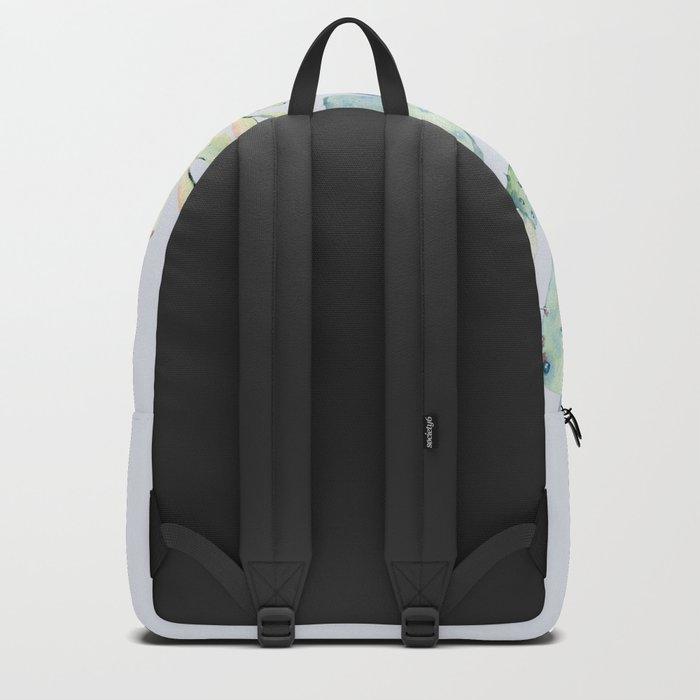 Mixed Cacti 2 Blue #society6 #buyart Backpack