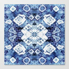 Blue Silk Tie-Dye Canvas Print