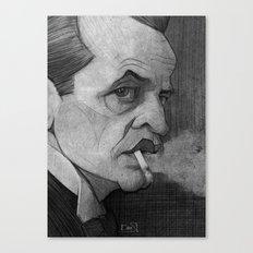 Klaus Kinski illustration portrait Canvas Print