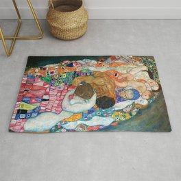 """Gustav Klimt """"Death and Life"""" (detail) Rug"""