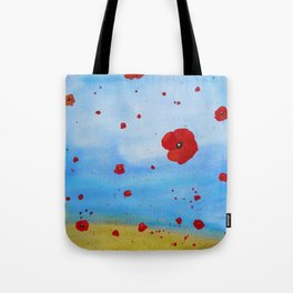 Floating Poppies Tote Bag