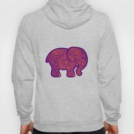 bohemian orange elephant mandala Hoody