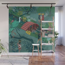 Ukiyo-e tale: The beginning of the trip Wall Mural