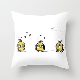 3 birds Throw Pillow