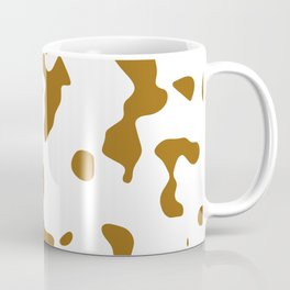 Large Spots - White and Golden Brown Coffee Mug