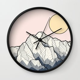 The sun and mountain Wall Clock