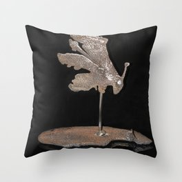 """""""Reflections"""" - Metal Scultpure - Grasshopper Throw Pillow"""
