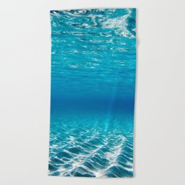Aqua Blue Bliss Beach Towel