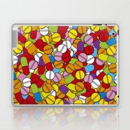 Colorful Pills Modern Medical Graphic Art Illustration Laptop & iPad Skin