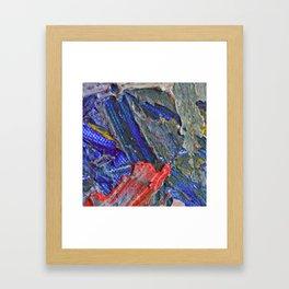 Red stroke Framed Art Print